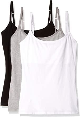 Pact Everyday Camisole w/Shelf Bra 3-Pack Multi XL at Amazon .