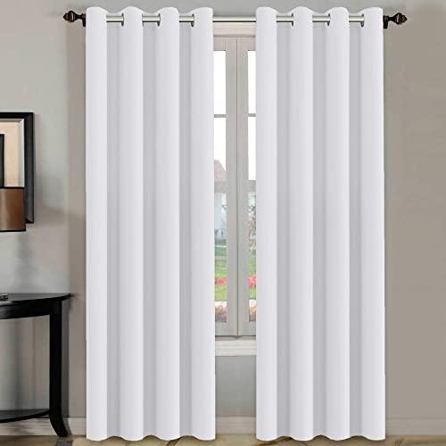 White Living Room Curtains: Amazon.c