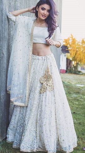 White Lehenga Choli - It Gives A Special Look At The Weddi
