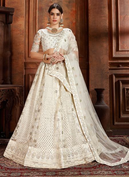 White Lehenga: Buy online white color Lehenga Choli designs online .