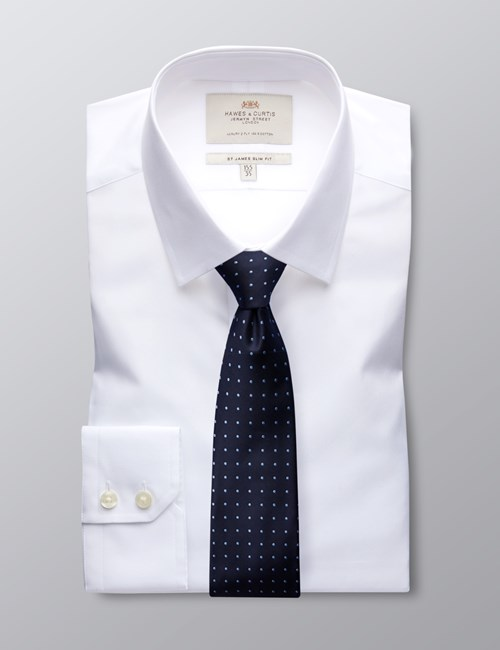 Fitted Poplin Dress Shirts for Men | Hawes & Curt