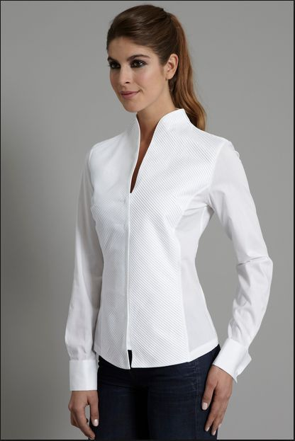 Penelope White Shirt (con imágenes) | Blusas bonit