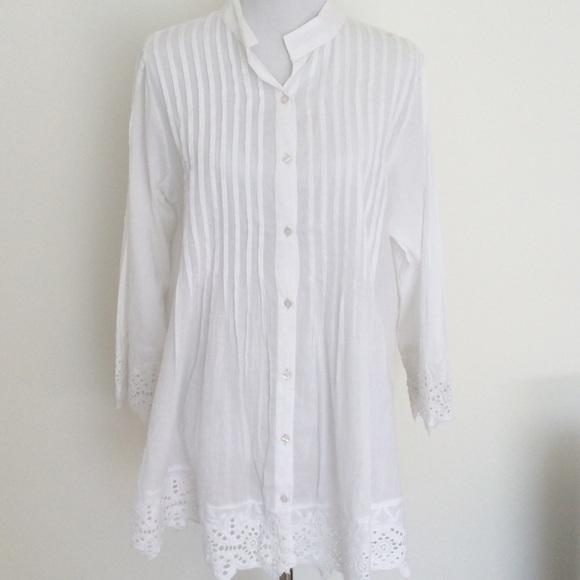 Cute Options Tops | White Tunic Top | Poshma