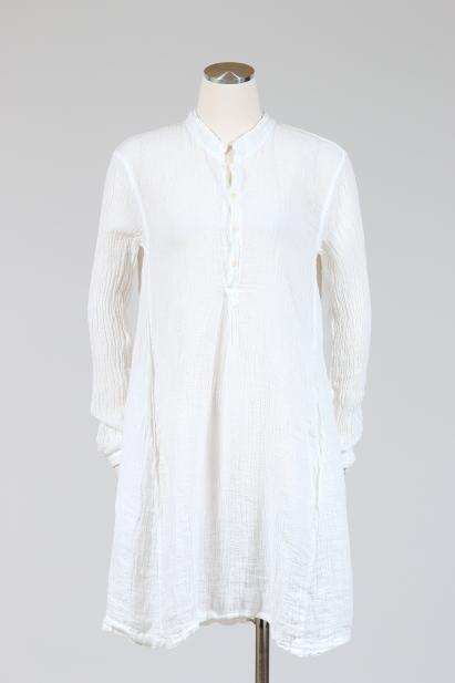 CP Shades Jasmine Tunic Tops (Linen Gauze), Multiple Colors {White .