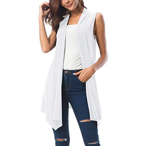 White Sleeveless Vests: Amazon.c