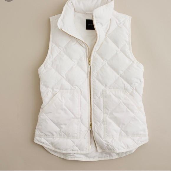 J. Crew Jackets & Coats | Jcrew Quilted White Vest | Poshma