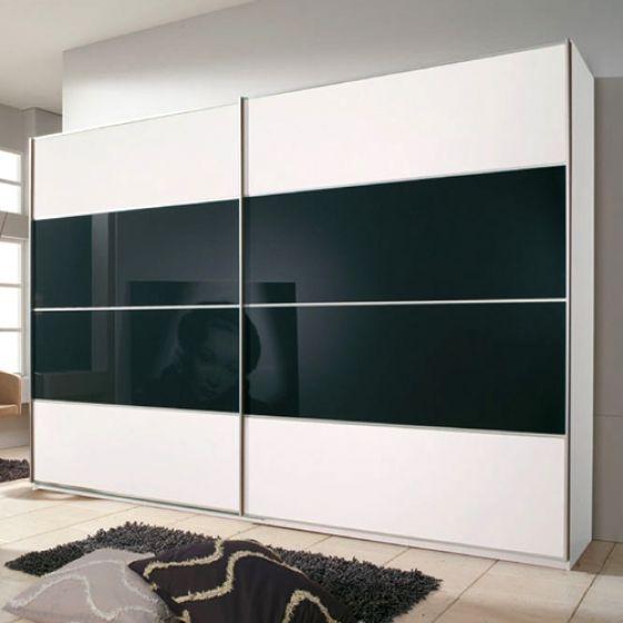 Black and White wardrobes | White sliding wardrobe, Sliding .