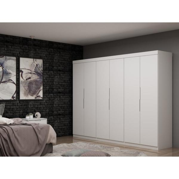 Luxor Ramsey 2.0 White Wardrobe Closet (Set of 3) 124HD1 - The .