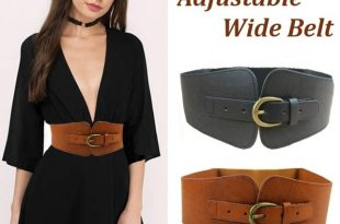 Fashion New Ladies Needle Wide Genuine Leather Buckle Leather .