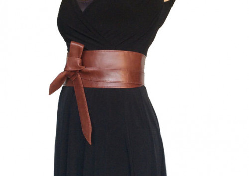 Wrap Leather Obi Belt, Unique Wide Belts, Tie Belts, Fashion Belt .