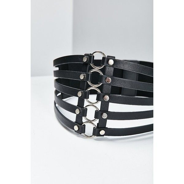 Wide Metal Ring Belt ($15) ❤ liked on Polyvore featuring .