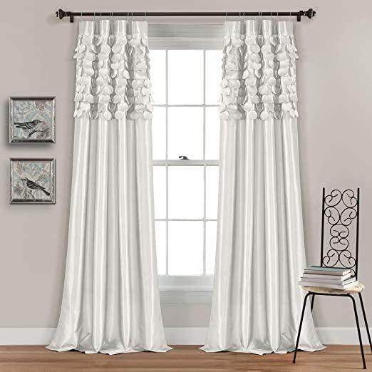 Amazon.com: Lush Decor White Circle Dream Window Curtains Panel .