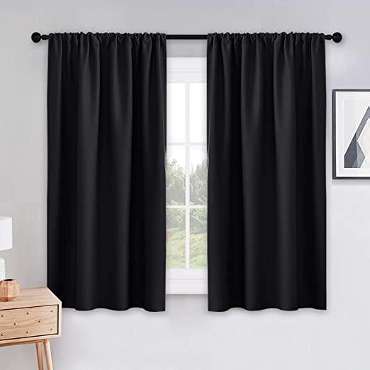 Amazon.com: PONY DANCE Black Out Window Curtains - 2 Panels .