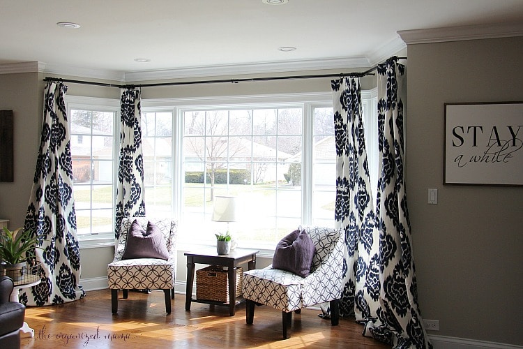 How To Hang Bay Window Curtains On An Oversized Window - The .
