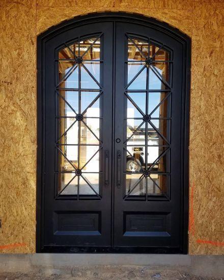 China Best Price Lowes New Wrought Iron Window Metal Door Designs .