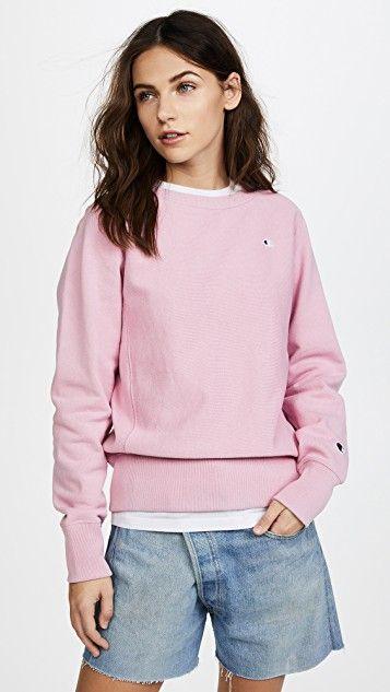 Pink Champion Sweatshirt | Cute Winter Tops for Women | Casual .