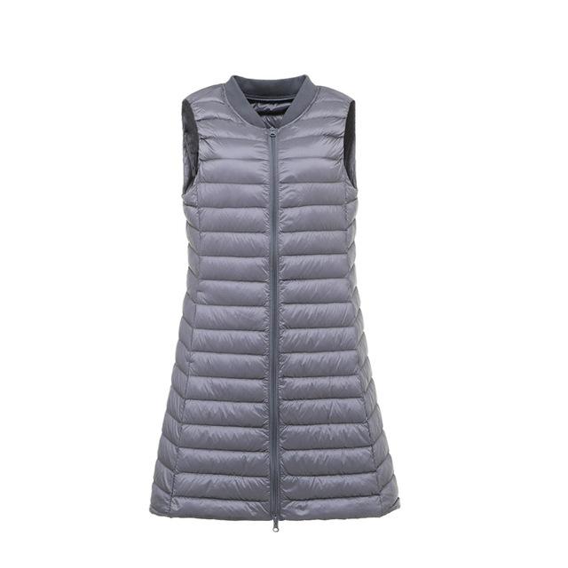 Women's Spring Autumn Winter Vests Thin Ultra Light Down Vest .