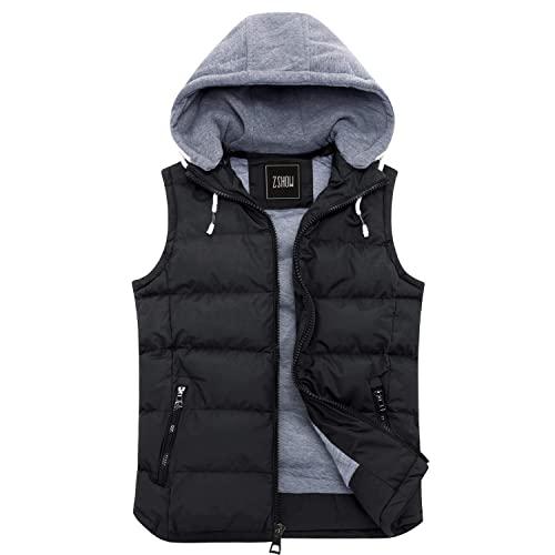 Black Winter Vest: Amazon.c