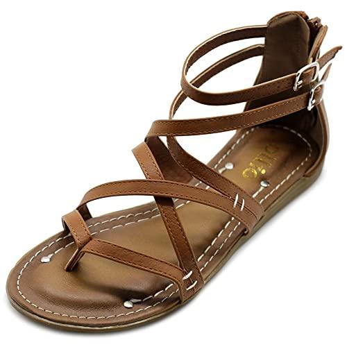 Women's Brown Gladiator Sandals: Amazon.c
