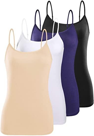 ROSYLINE Adjustable Camisoles Women Basic Undershirt Spaghetti .