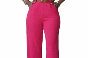 Women's Jumpsuits Elegant Button Loose Long Wide Leg Jumpsuits .