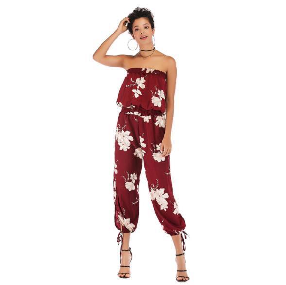 2019 Summer Women'S Jumpsuits Designer Capris For Women Casual .