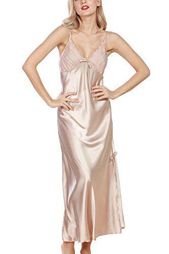 Dolamen Women's Nighties Satin, Ladies Silky Pyjamas Lace .