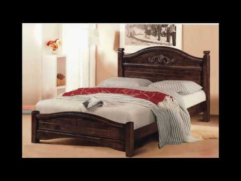 Solid Wood Bed Frame and Headboard Designs - YouTu