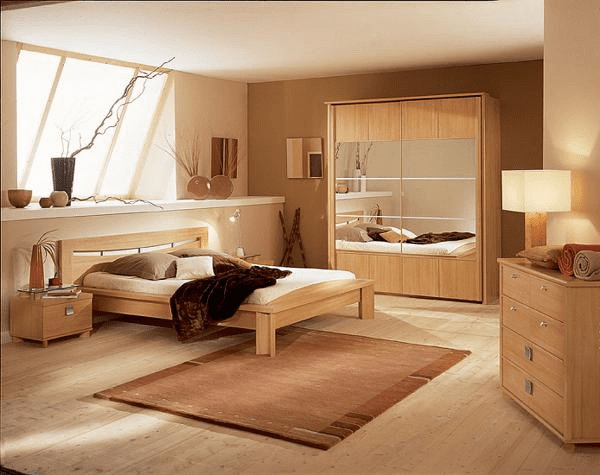 Light colored bedroom furniture beige and brown (With images .