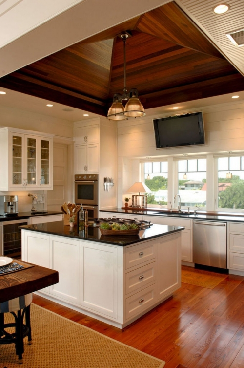 Wood Ceilings Give A Warm Look To Your Kitch