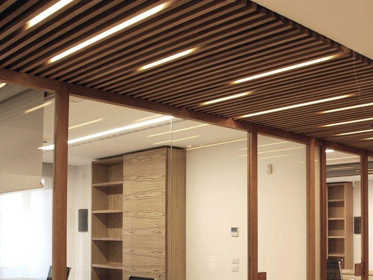 Sound absorbing wooden ceiling tiles NODOO | Ceiling tiles - NODOO .