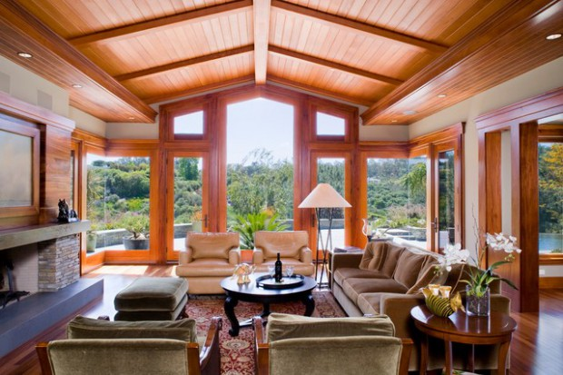 19 Stunning Wood Ceiling Design Ideas To Spice Up Your Living Ro