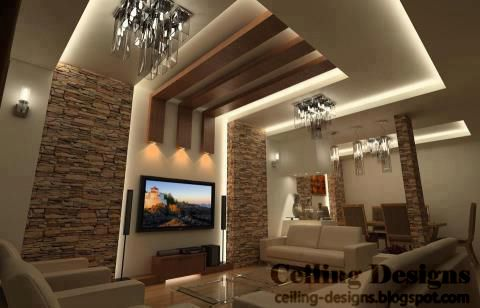 wood ceiling panels for living room (With images) | Ceiling design .