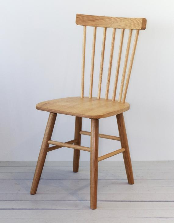 Set of two solid oak wooden chairs Scandinavian design | Et