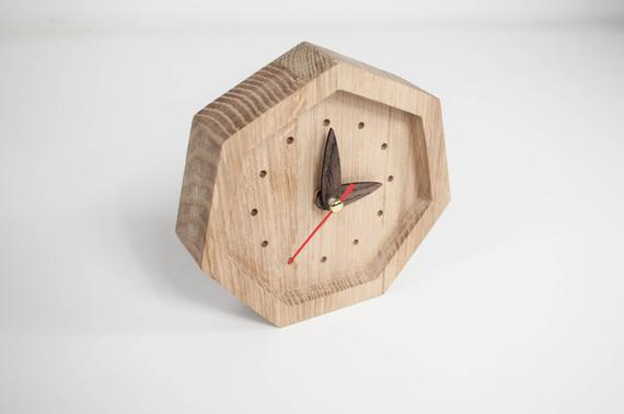 Small Wood Desk Clock Wooden Clocks Wooden Clock For Him | Et