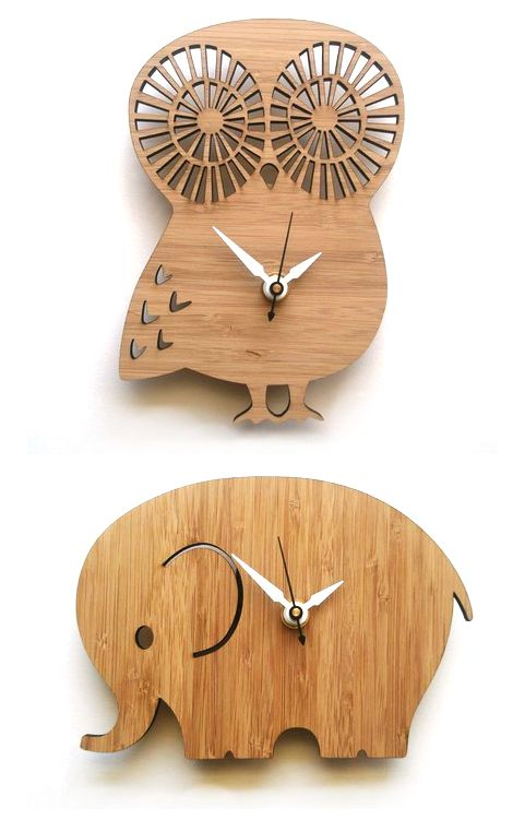 Wooden clocks. | Wooden owl, Owl clock, Diy clock wa