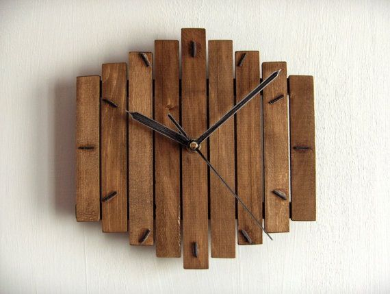 Timber clock in 2019 | Wooden clock, Rustic wall clocks, Hanging clo