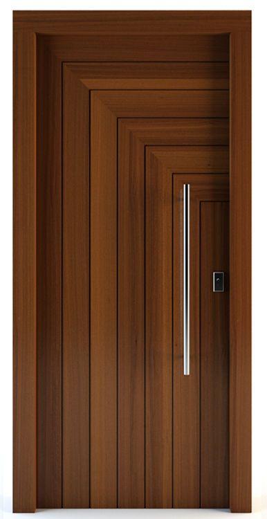 Porte d'entrée / battante / en bois massif - GORTYNA - Block95 .