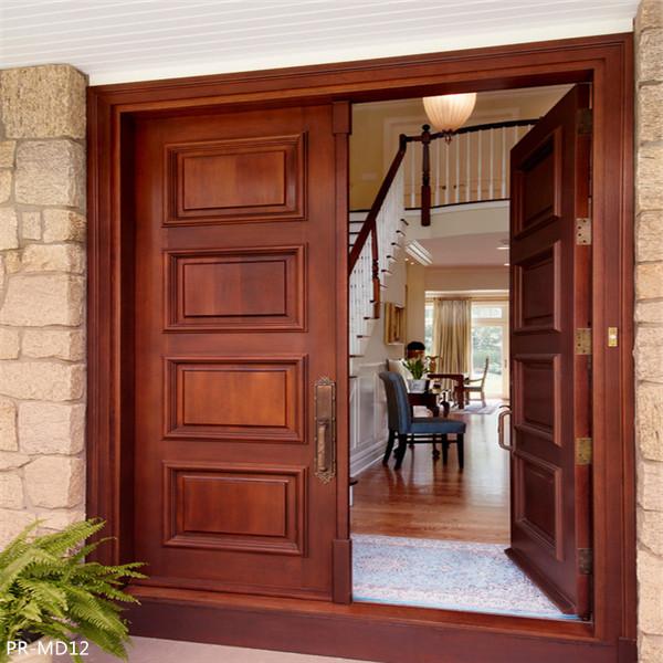 solid wood main entrance wooden door desig