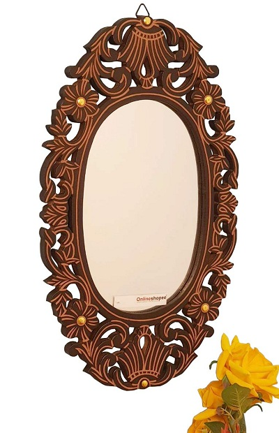 10 Simple & Modern Wooden Mirror Designs With Pictur