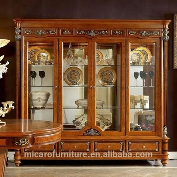 2017 latest italian antique classic living room glass display .