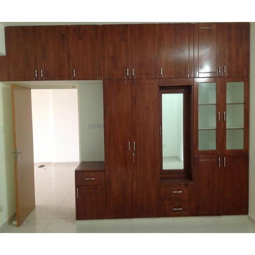Brown Designer Wooden Wardrobe, Rs 850 /square feet S M P INTERIOR .