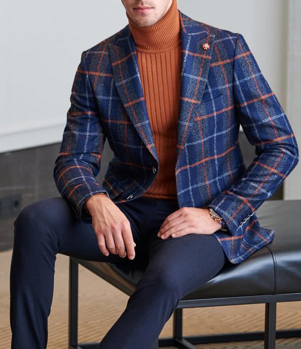 Buy Navy Blue Slim Fit Wool Blazer by GentWith.com with Free Shippi