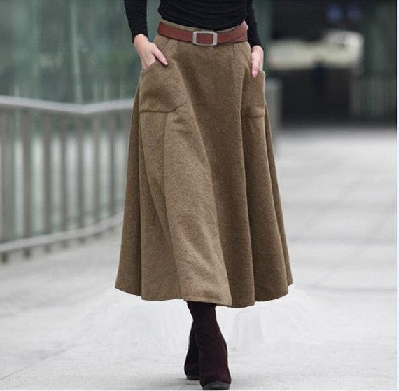 Wool Skirt | DressedUpGirl.c