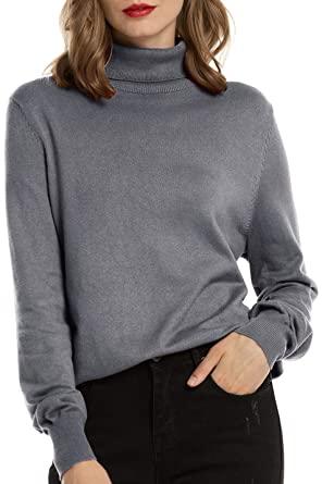Woolen Bloom Women's Turtleneck Sweater Pullover Lightweight Long .