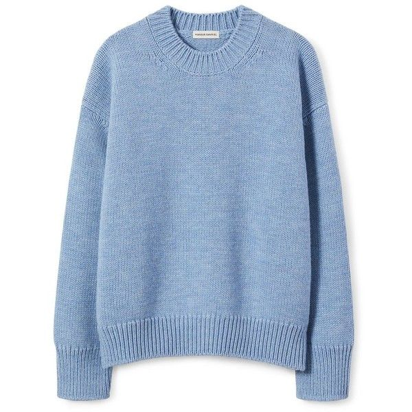 Wool Oversized Crewneck ❤ liked on Polyvore featuring tops .
