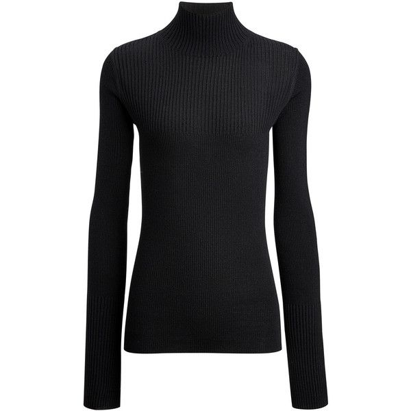 Joseph Wool Cashmere High Neck Knit ($375) ❤ liked on Polyvore .