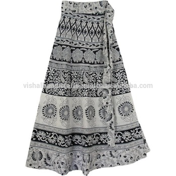 2015 Latest Ethnic Designer Sanganeri Cotton Long Wrap Skirt/ Wrap .