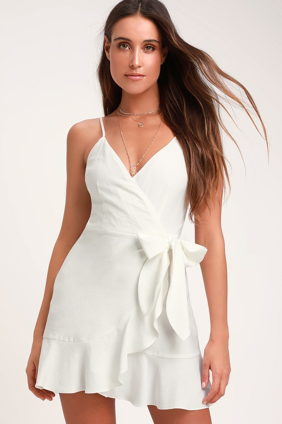 The Fifth Label Soulmate - Ivory Wrap Dress - White Wrap Dre