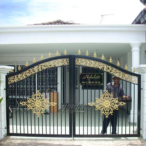 vintage modern patio double decorative wrought iron gate designs .